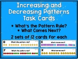Increasing and Decreasing Pattern Task Cards