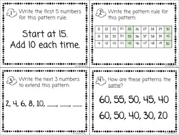 Increasing and Decreasing Patterns Task Cards - Poppin' Patterns