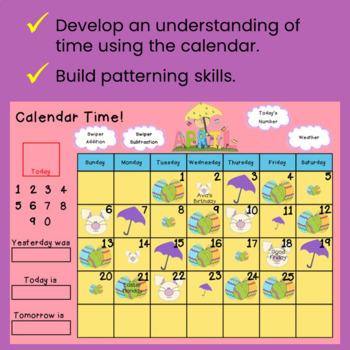 Interactive Calendar Math for SMART Board