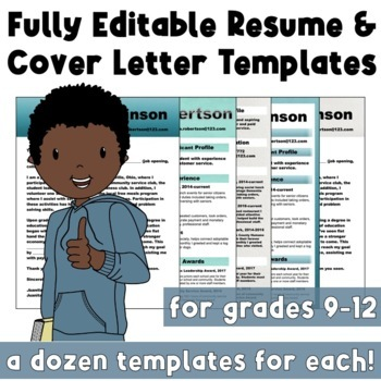 Incredible, Editable  Cover Letter & Resume Templates Bundle