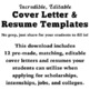 Back to School: Incredible, Editable  Cover Letter & Resume Templates Bundle