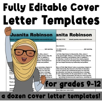 Incredible, Editable Cover Letter Templates