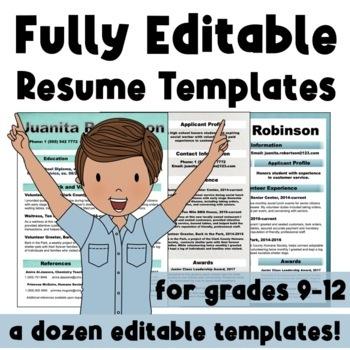 Incredible, Editable Resume Templates: Life Skills