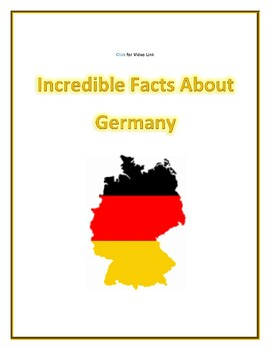 (EUROPE GEOGRAPHY) Incredible Facts about Germany:  Video Guide