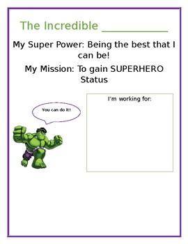Incredible Hulk Reward Chart