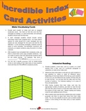Incredible Index Card Activities