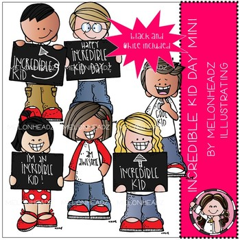 Incredible Kid Day clip art - Mini - by Melonheadz