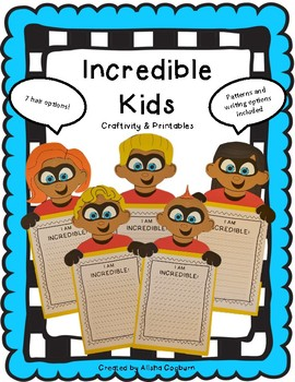 Incredible Kids Craft, Craftivity, and Printables