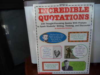 Incredible Quotations   ISBN#0-590-96378-3