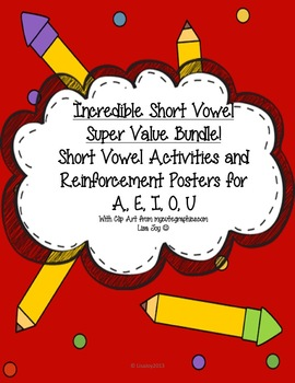 Incredible Short Vowel Super Value Bundle for Beginning Readers!