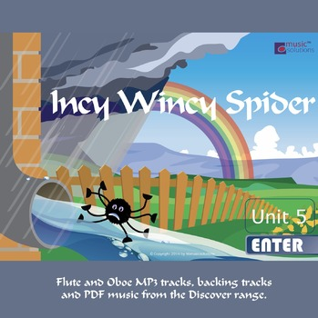 Incy Wincy Spider Flute And Oboe MP3 And PDF Unit 5.