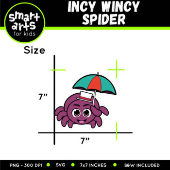 Incy Wincy Spider (Itsy Bitsy Spider) Clip Art