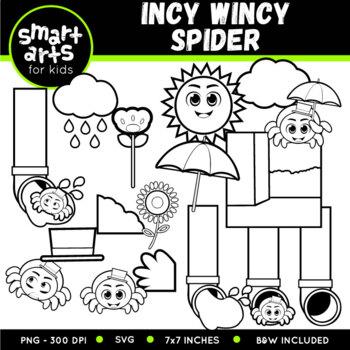 Incy Wincy Spider (Itsy Bitsy Spider) Clip Art