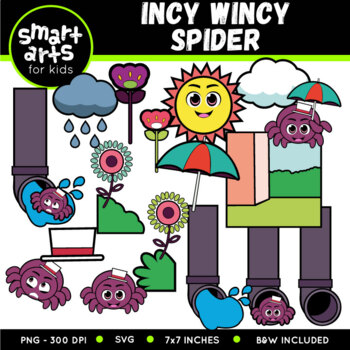 Incy Wincy Spider (Itsy Bitsy Spider) Nursery Rhyme Digita