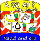 Indefinite Article Clip Cards