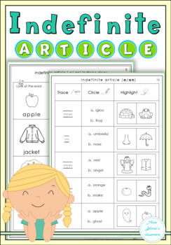 indefinite article worksheets by miss jelena s classroom tpt