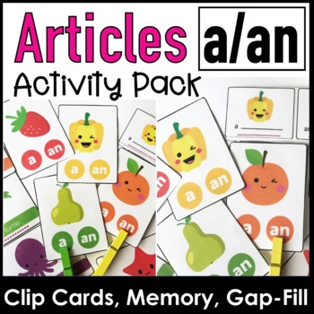 ESL Indefinite Articles A / AN - Practice Activity Pack for Young Learners