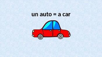 Indefinite Articles in Spanish (singular)