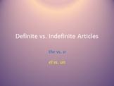 Indefinite & Definite Articles in Spanish