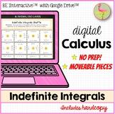 Calculus Indefinite Integrals Activity for Google Slides™