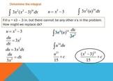 Indefinite Integration Using u Substitution (PP)