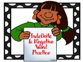 Indefinite Negative Negation Powerpoint
