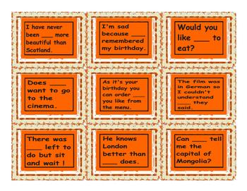 Indefinite Pronoun Cards