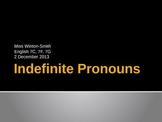 Indefinite Pronoun Power Point