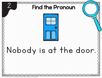 Indefinite Pronouns: BOOM Cards for Digital Grammar Games in First Grade