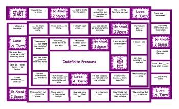 Indefinite Pronouns Board Game