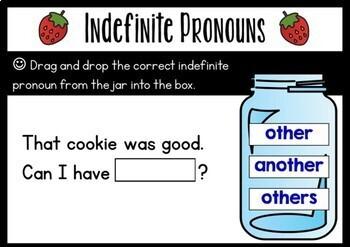 Indefinite Pronouns Boom Cards (Digital Task Cards)