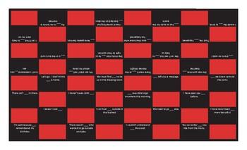 Indefinite Pronouns Checker Board Game