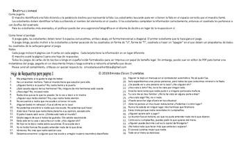 Indefinite Pronouns Spanish Legal Size Photo Tic-Tac-Toe-Bingo Game