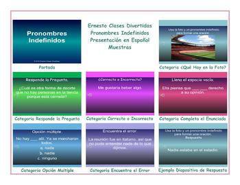 Indefinite Pronouns Spanish PowerPoint Presentation