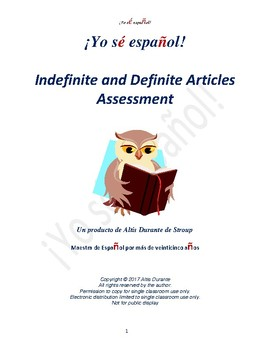 Indefinite and Definite Articles Quizzes  Teaching Material