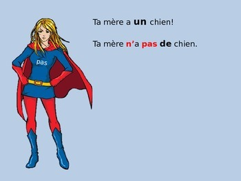 Indefinite articles in negative sentences- French