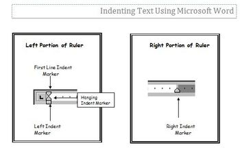 Indenting Text Using Microsoft Word