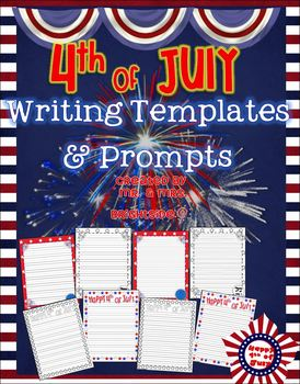 Independance Day and Patriotic Writing Templates