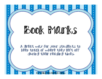 Independent Reading Bright Color Book Marks