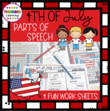 Independence Day 4th of July Parts of Speech handouts