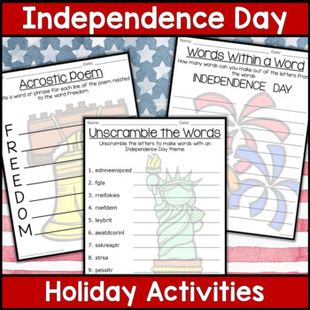 Independence Day Activities (4th of July)