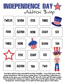 Independence Day Addition Bump Games