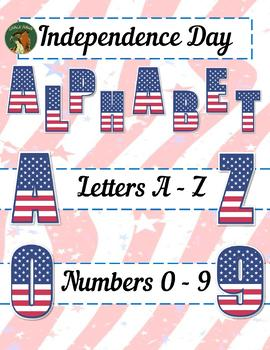 Independence Day Alphabet Clip Art