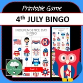 Independence Day Bingo - Printable 4th July Bingo Game for Preschool & K-2 kids