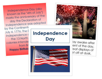 Independence Day Cards and Booklet