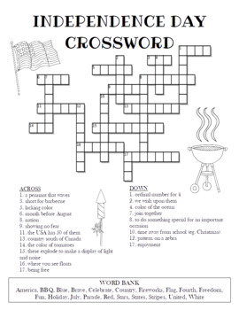 Independence Day Crossword Puzzle