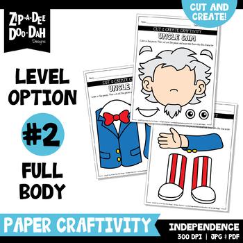 Independence Day Cut & Create Writing Craftivity {Zip-A-Dee-Doo-Dah Designs}
