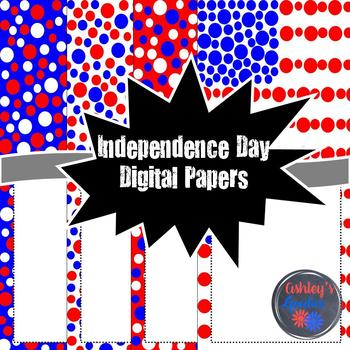 Independence Day Digital Papers with Frames!