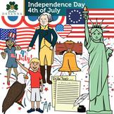 Fourth of July U.S. Symbols Clip Art