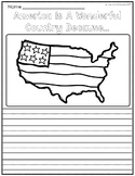 Independence Day, Fourth of July Writing Prompts Template